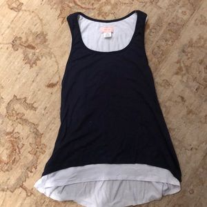 Navy and white love...ady tank